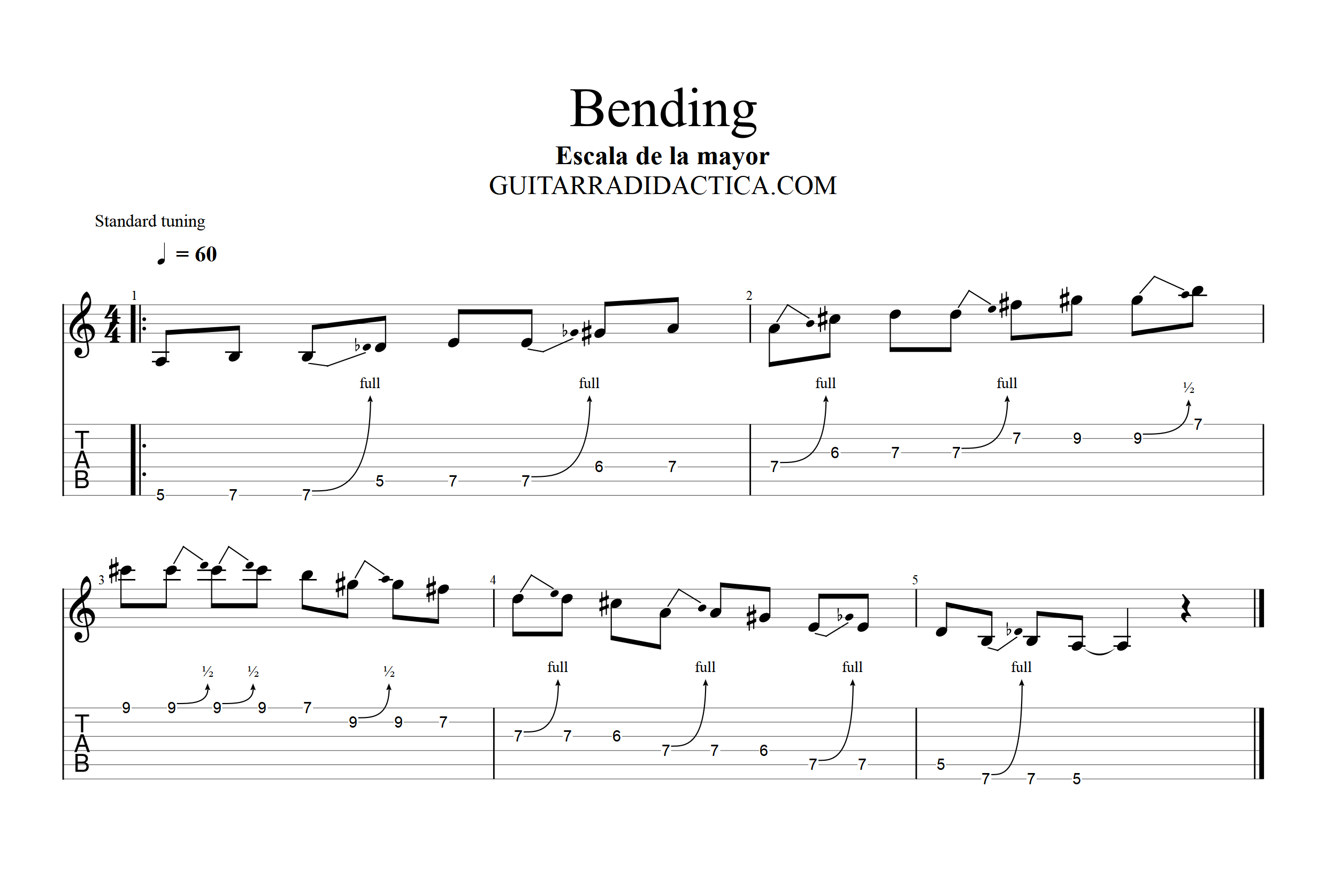 Bending guitarra