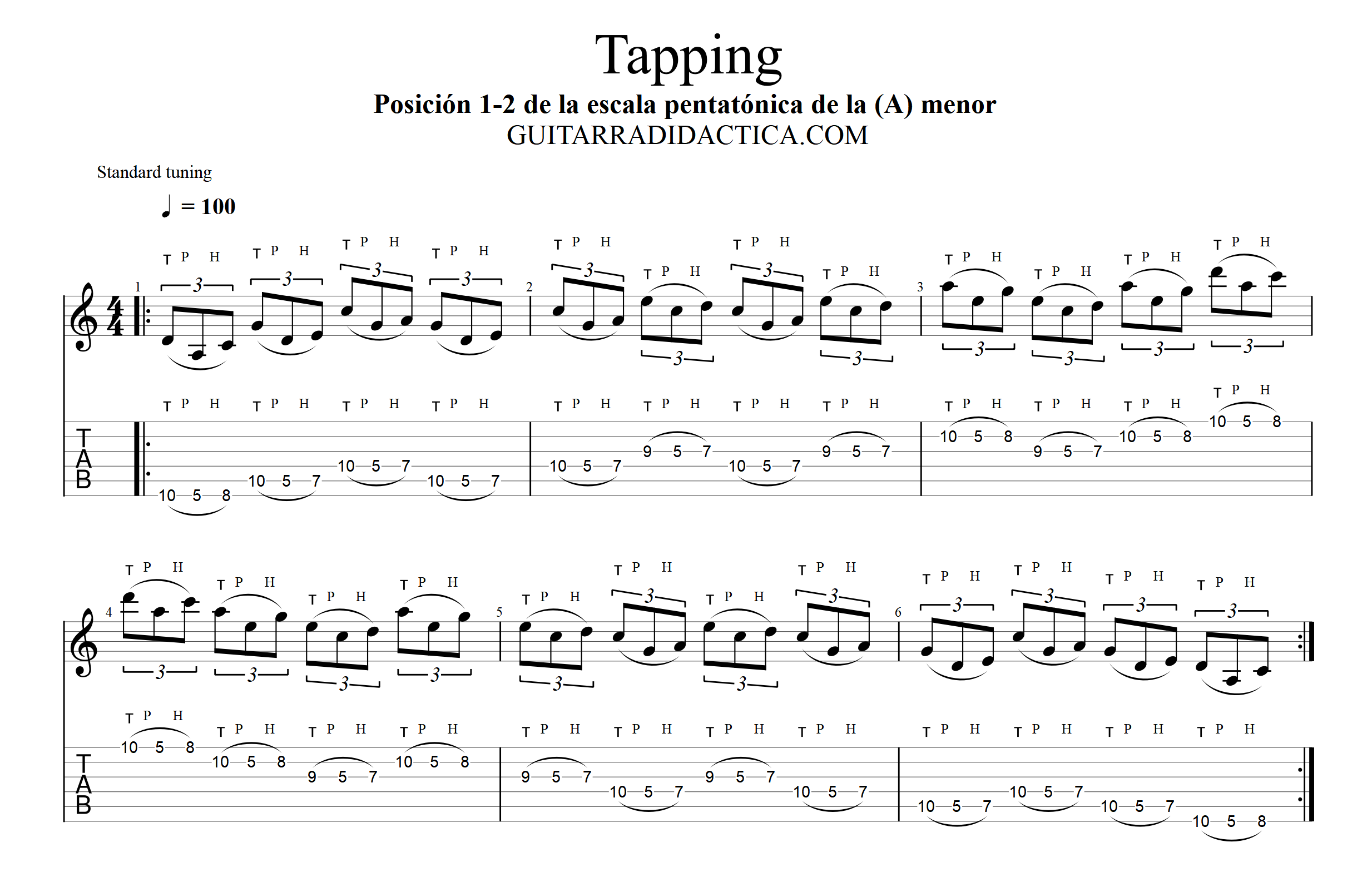 Tapping guitarra